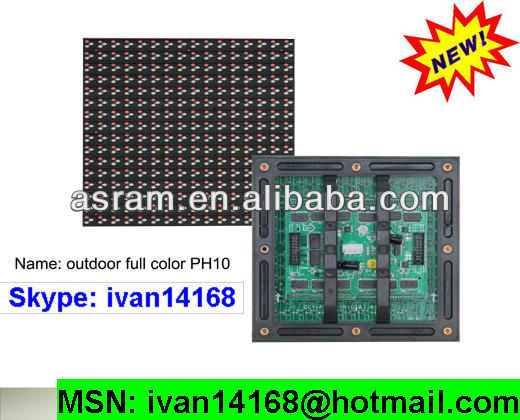 p10 outdoor waterproof 16x16 32x16 32x32 pixels led p10 rgb display module free shipping