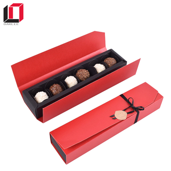 Fashion box with PVC window custom food&chocolate paper packaging box