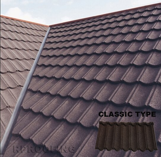 Colorful Classic Metal Roofing Sheet Stone Coated Steel