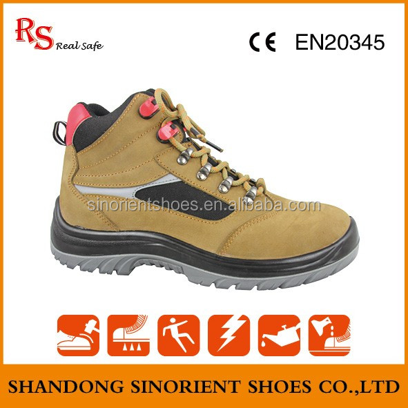 Ladies trendy safety shoes with plastic toe cap Kings safety boots with CE certification Trojan safety shoes SNN414