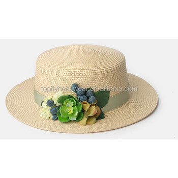 22dc27727c3 Fashion Flat Top Female Straw Hat Wholesale Cheap Beach Hats - Buy ...