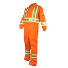 NFPA Fire Suit Reflective Striped Cotton FR Coverall