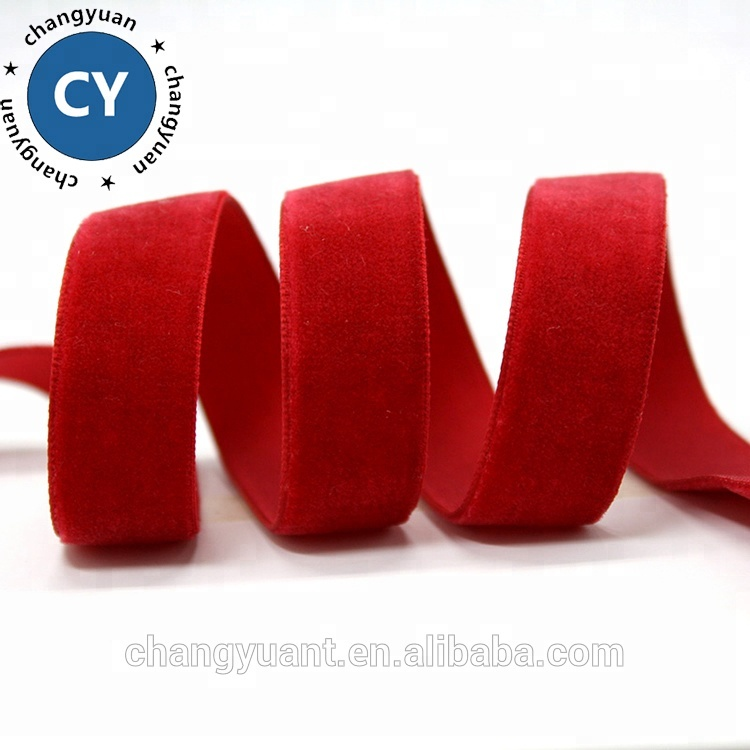 Wholesale 3mm-50mm single face stretch nylon velvet ribbon for garment accessories