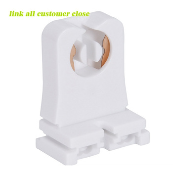 non-shunted t8 lamp holder socket tombstone for led fluorescent tube  replacements turn-type