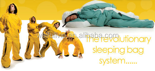 Polyester wearable adult human shape sleeping bag