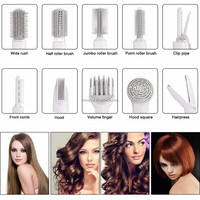 10 in 1 Mutiple Function Hair Curlers Brush Comb Hair Straightener Dryer Curling Iron