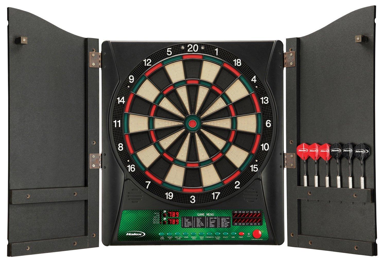 Regent-Halex Millennia 1.0 Electronic Dartboard in Wood Cabinet, Brown, Medium