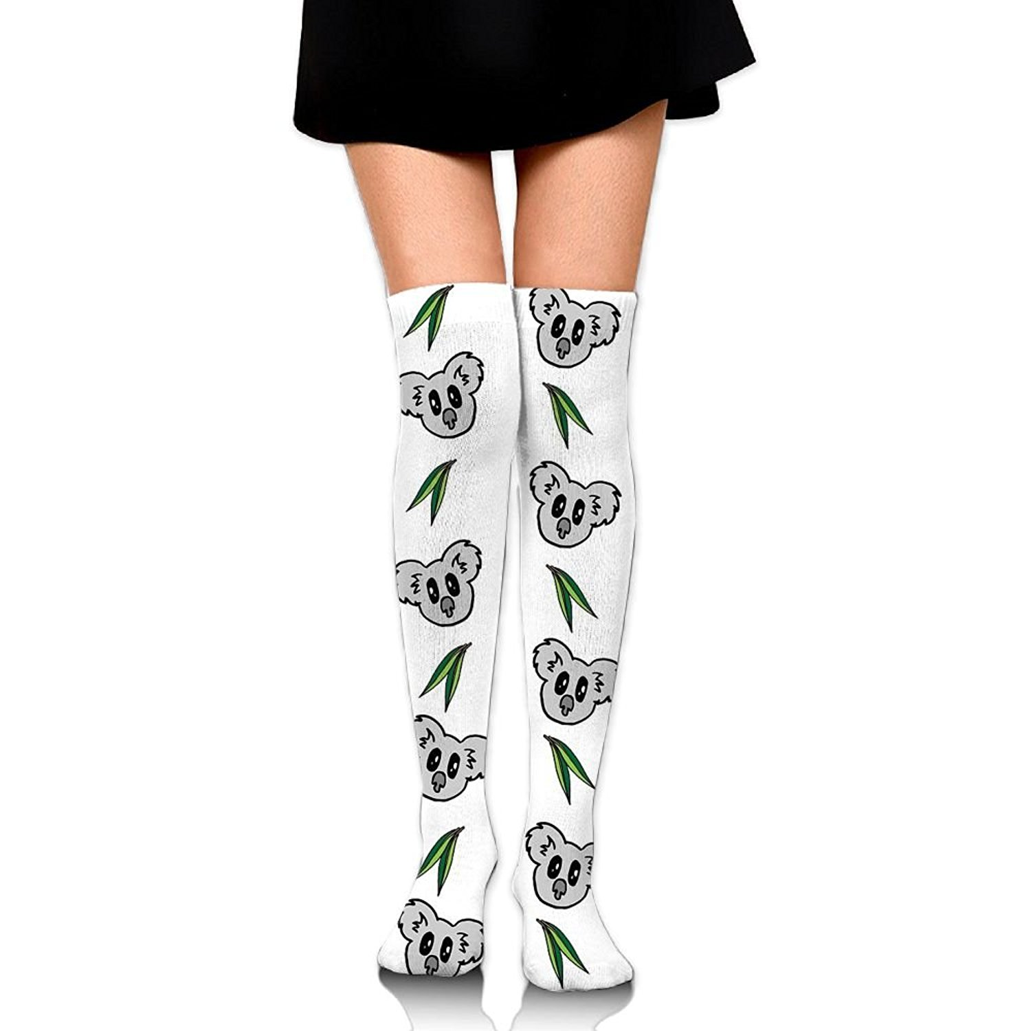 Zaqxsw Koala Women Retro Thigh High Socks Girls Socks For Ladies