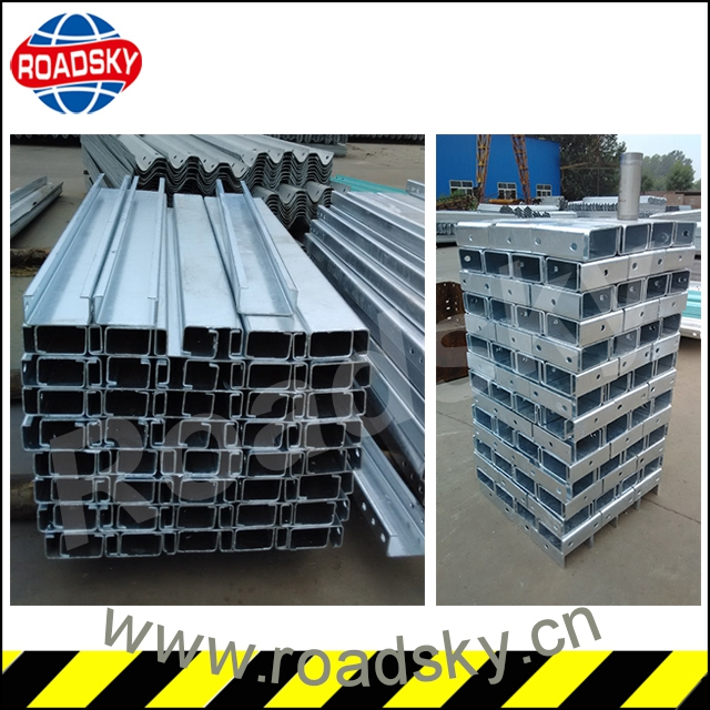 highway roadside protection galvanized c post for the guardrail