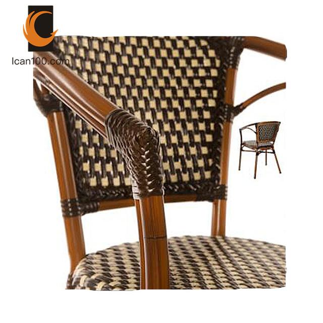 Extérieur Moderne Chaise De Restaurant Café Cafétéria Chaises Résistant Aux Uv Anti décoloration Rotin En Osier Chaise De Café Buy Chaise De
