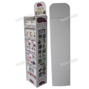 Good Printing Cardboard Easy to Assemble Shop Display Unit for Gift Cards
