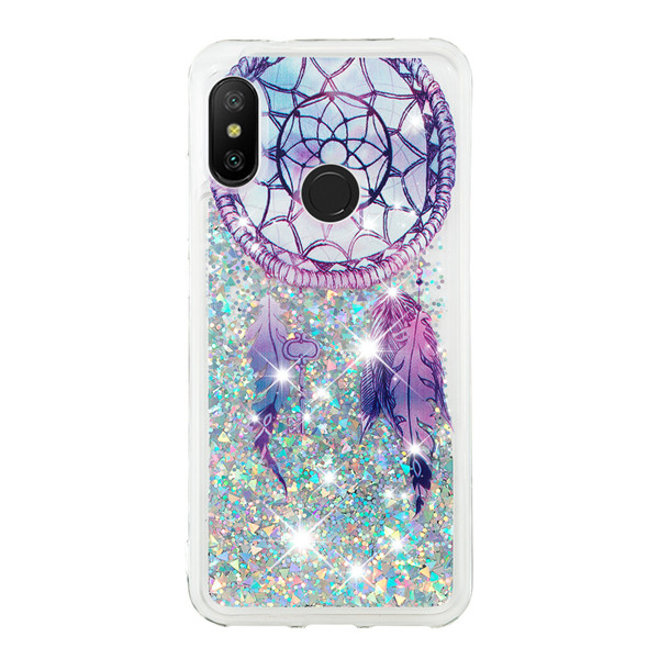Mobile Phone Case Protective mobile Cover Shell bling bling quicksand Covers for xiaomi Mi A2 lite Case For Redmi 6 pro фото