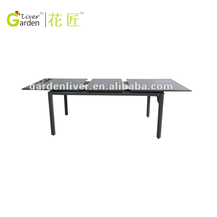 glass and metal dining room expanding ding table with pool table