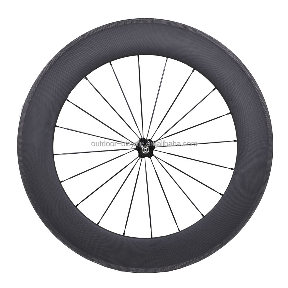 Wheel-88C-700c Carbon Bicycle Wheelset, 80mm Clincher Wheel, Hubs, Spoke and Quick Release, 3k Glossy/Matte, Free Shipping!