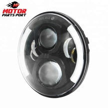 Custom black best 7 inch led headlight motorcycle for Harley