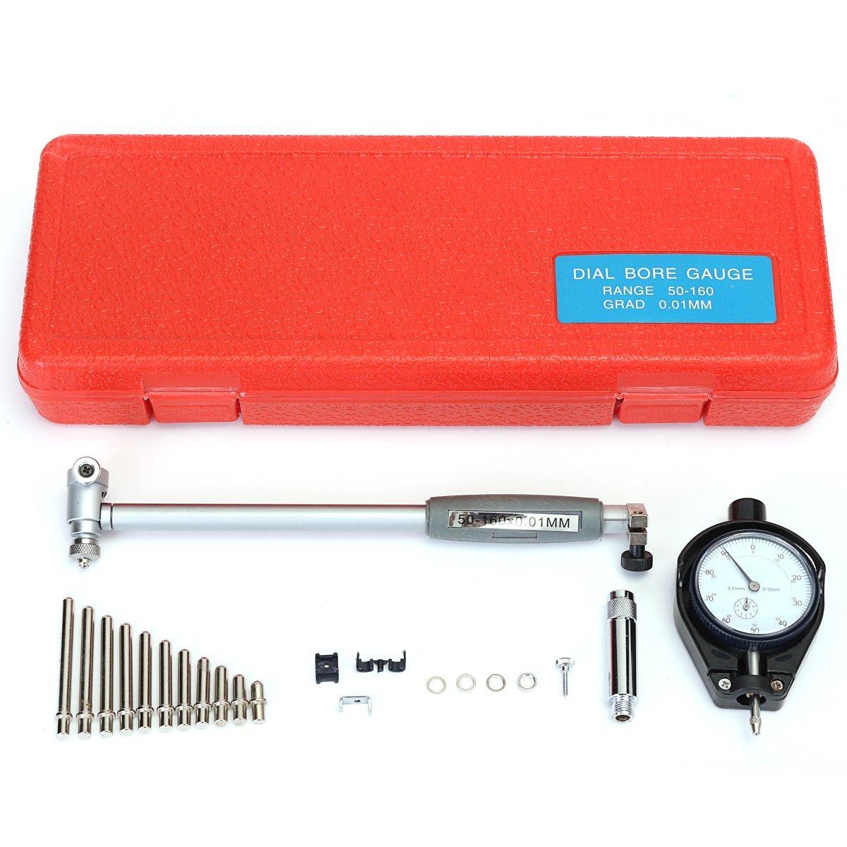 50-160MM 0.01MM Indicator Inner Diameter Dial Bore Gauge