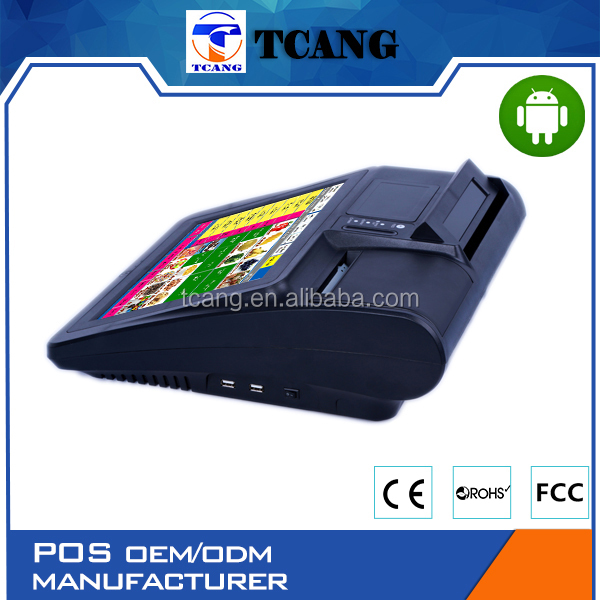 Tuocang TA-TOUCH1208 Let You Get More Profit Cash 2 screen led Epos machine for petrol station