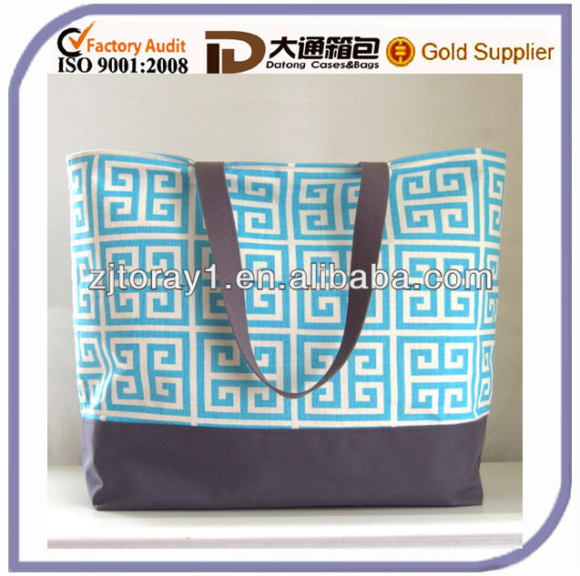 Towers Turquoise XL Extra Large Durable Women Beach Tote Bag / Beach Bag - Ready to Ship