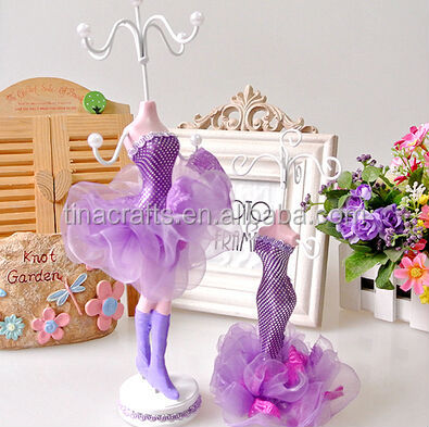2 sets purple Doll earring display stand