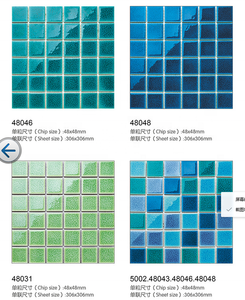 48x48 mm ceramic mosaic tiles,cheap swimming pool tile