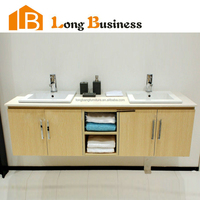 Marketing plan new product double sink solid wood bathroom vanity