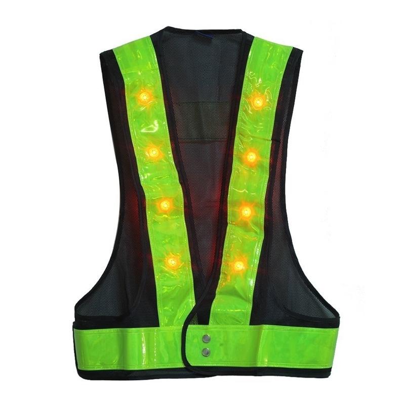 Из светодиодов водонепроницаемый светоотражающую одежду светоотражающий жилет из светодиодов вспышка защитную одежду в санитарии трафика строительство