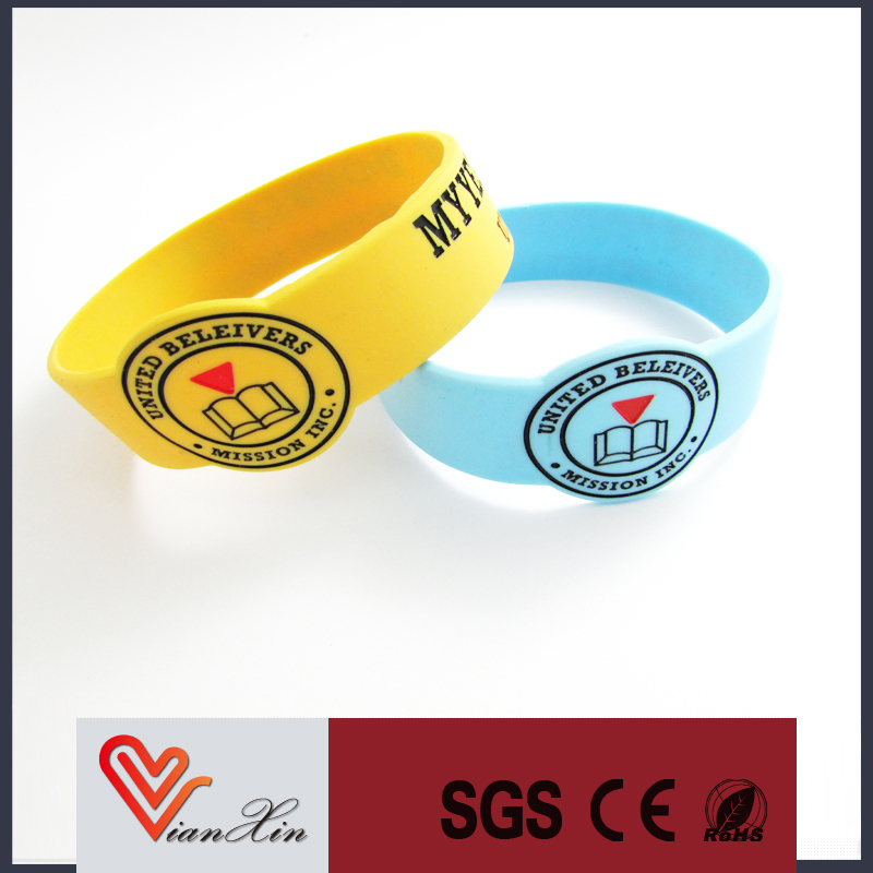 Sports Activity Event Holiday Gifts Embossed and full color silicone wristband