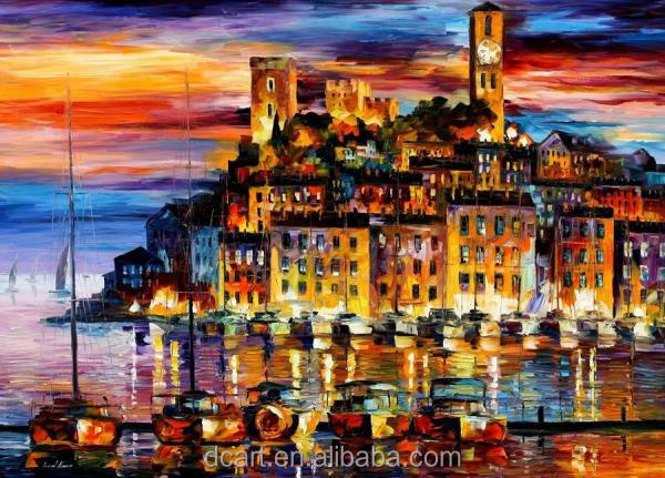 indoor decorative handmade contemporary knife oil paintings