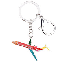 Брелок WEVENI для ключей, металлический брелок в форме самолета, сумка для ключей, сувенир, модные аксессуары, эмалированные украшения для женщ...(Китай)