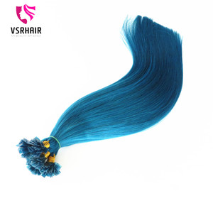 Factory wholesale good quality hair extension keratin hair