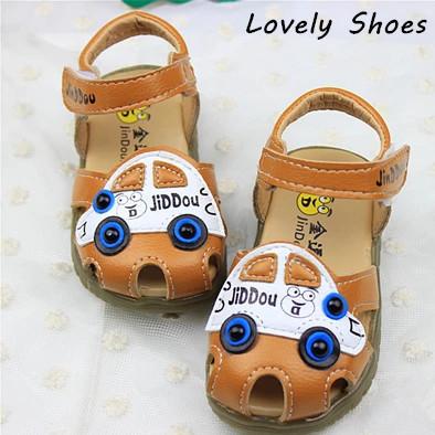 1 - 3 Y комикс автомобиль стиль дети обувь мальчики большой глаз лето пляж обувь для мальчики сандалии мягкий нижний открытый носок