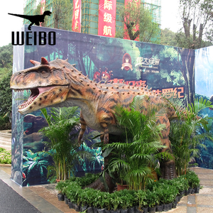 Attractive interactive robot animatronic dinosaur game for sale