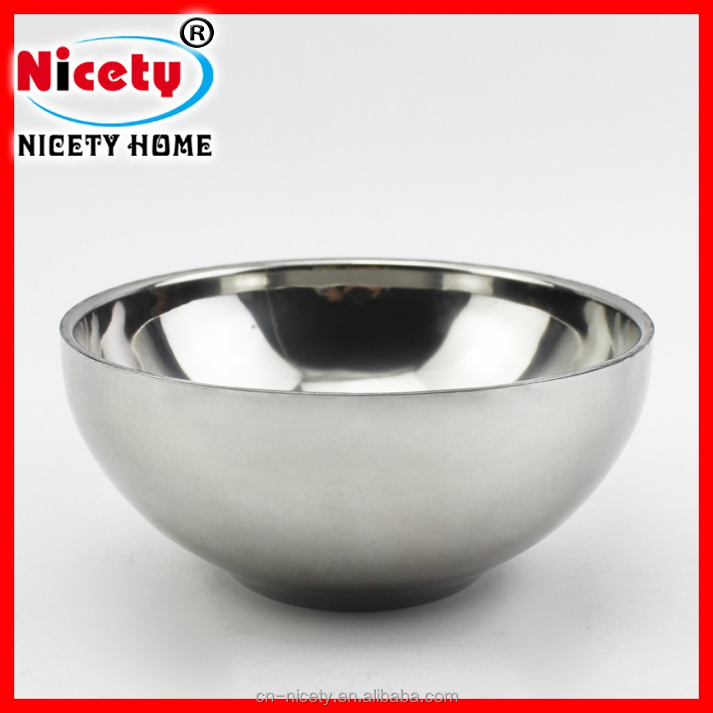Nicety wholesale SUS 201 single stainless steel rice soup serving bowl