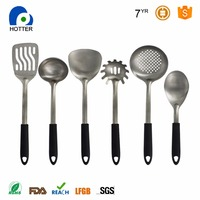 Stainleee Steel Home Kitchenware Sets Silicone Handle Kitchen Cooking Tools