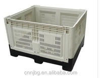 HDPE collapsible pallet crate for fruits and vegetable storage