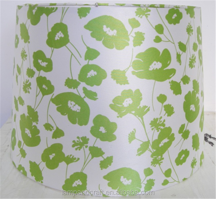 wholesale modern artistic upscale beautiful fabric green lampshade with flower pattern wholesale factory price