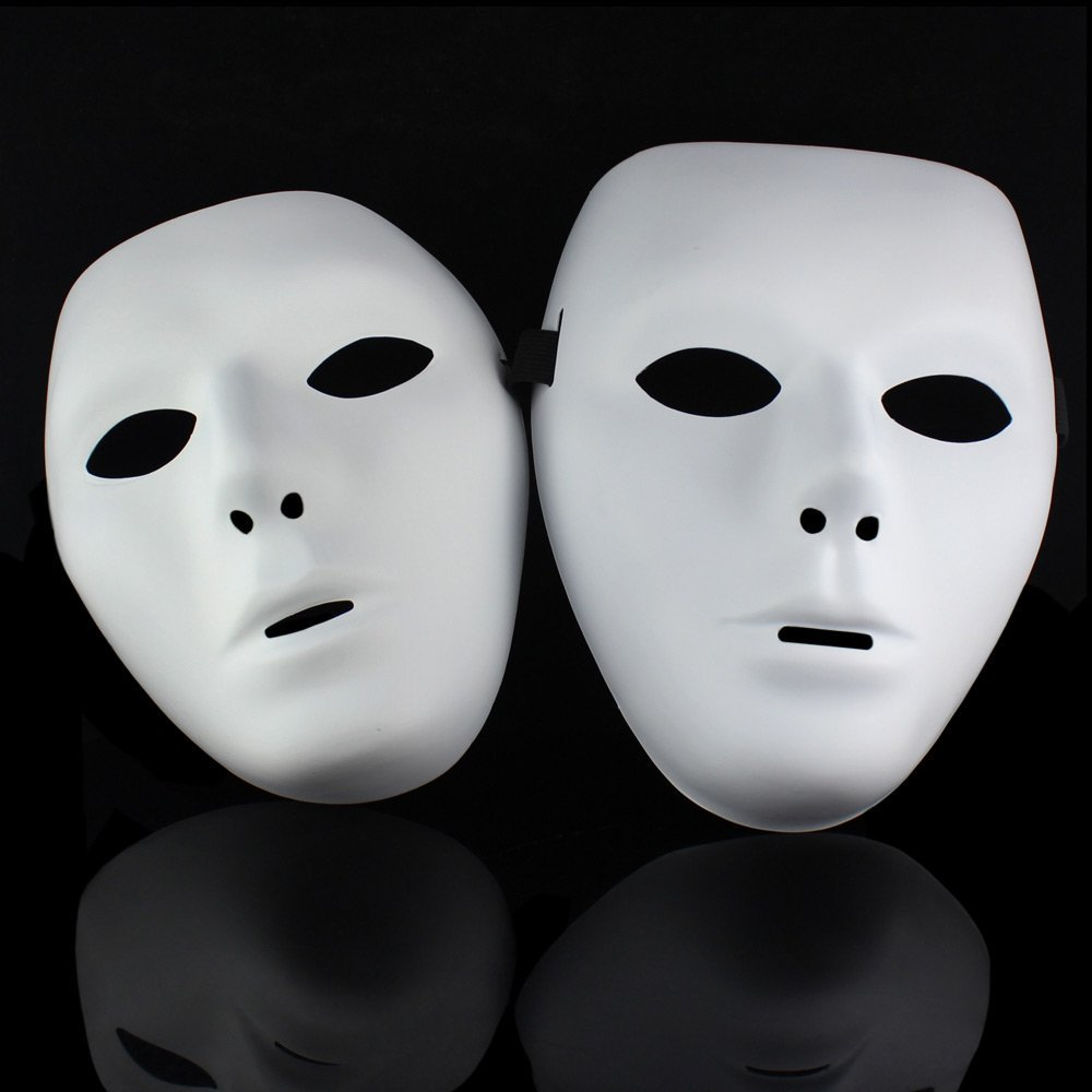 White Face Mask Cosplay Costume Prop Halloween Party Masquerade Jabbawockeez
