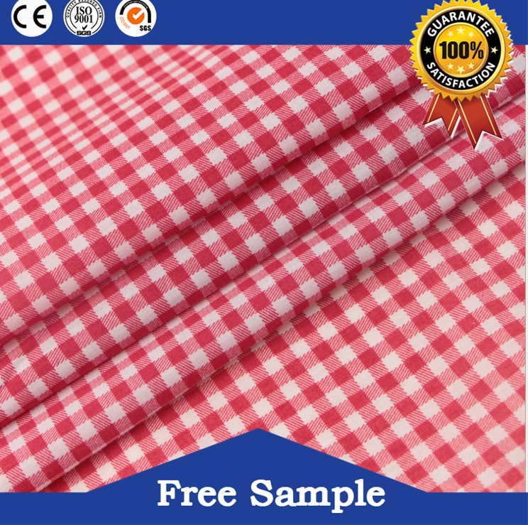 Yarn Dyed 100% Cotton Brushed Twill Check Fabric