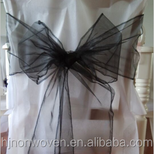 cheap wired edge organza sashes for weddings chairs