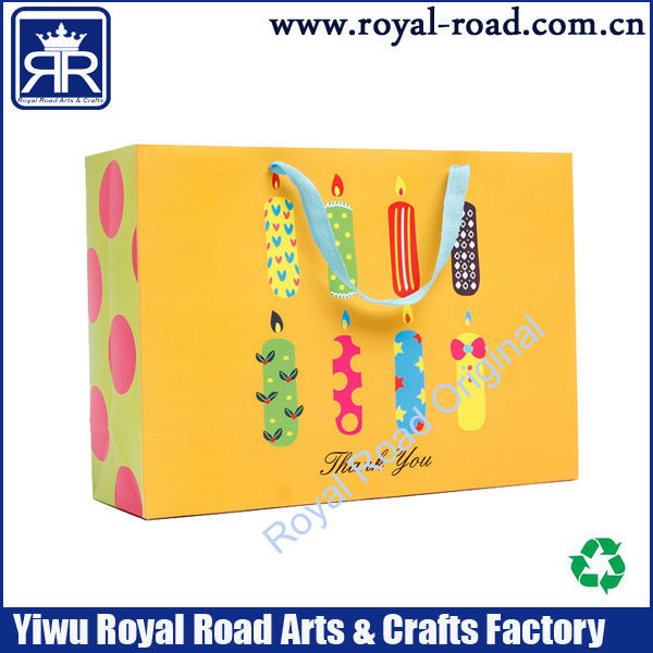 birthday party Multi Color Paper Treat Bags with Sticker Seals