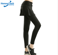 2019 Popular Polyester Custom Sexy Tight Fitness Sport Training Legging Pants Girl Skirt