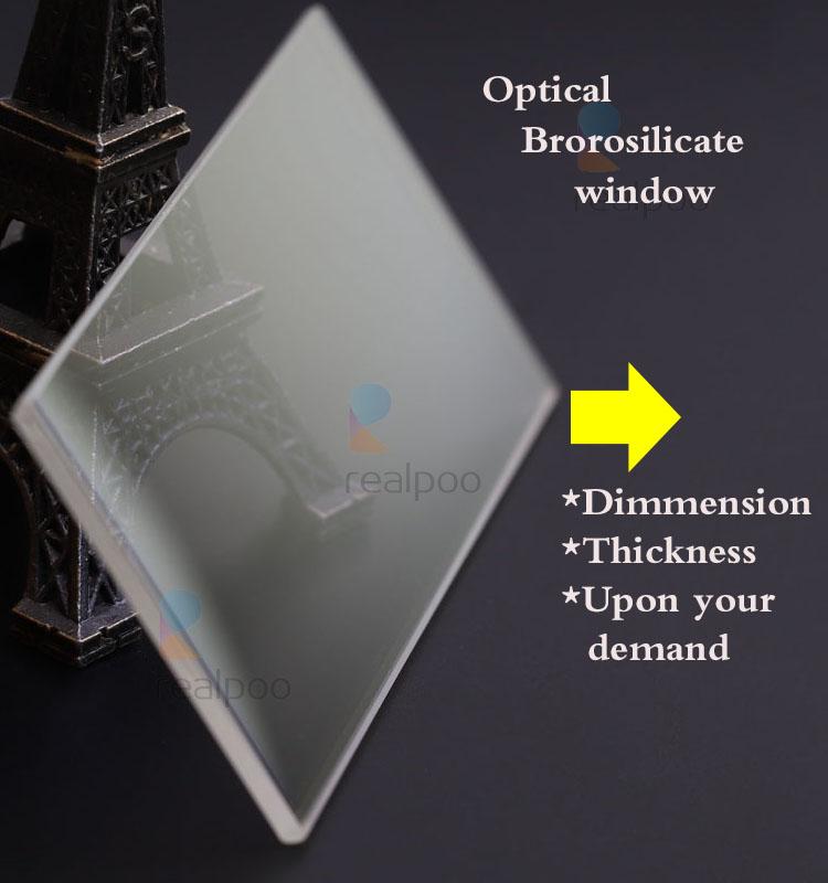 Diameter 100mm thickness 2.25mm Borosilicate glass optical window lens