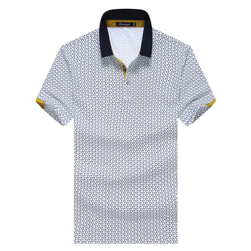Free Shipping High quality business men mercerized cotton Men polo shirt XXL/XXXL