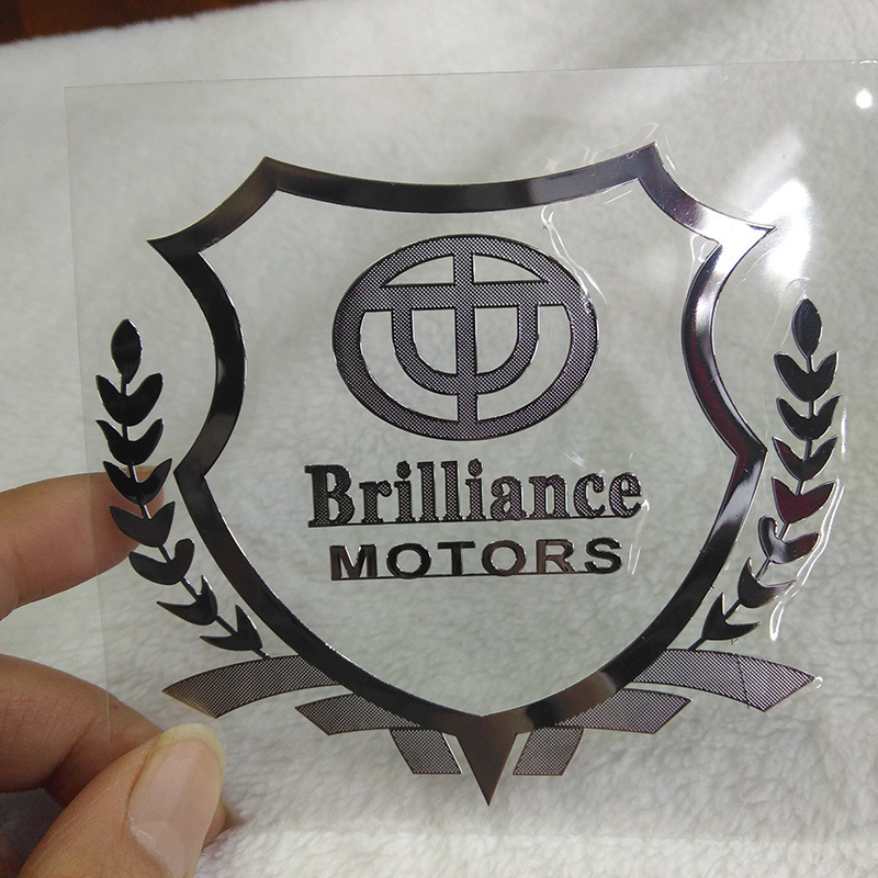 Wholesale Custom Car Metal Stainless Body Decoration Gold and Silver Sticker