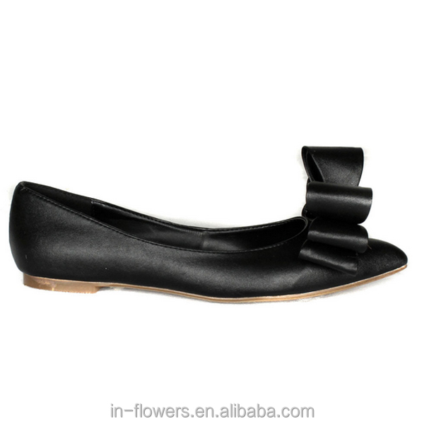 shoes leather calf flat women OEM black hand for made wYIqvwxA4