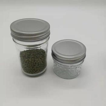 4 oz 8oz mason jar custom with metal lid/ wide mouth mason jam jar