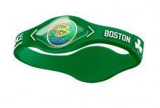 "Power Balance Bracelet Wristband Boston Celtics Green w/ White Size Medium (7.5"" diameter)"