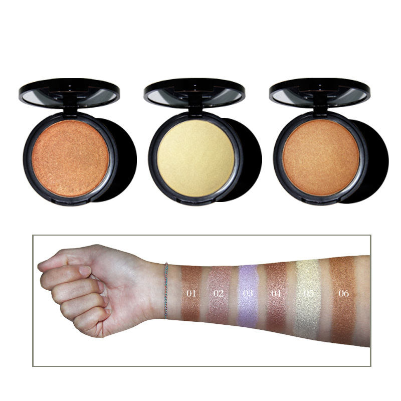 Alibaba.com / Make Your Own Brand Pressed Highlighter Makeup  Private Label 6 colors face powder