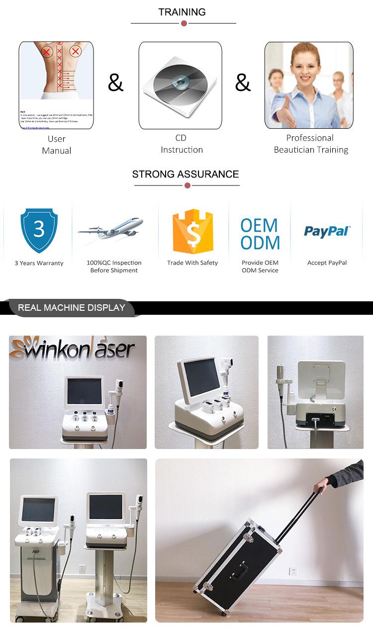 Neue Ankunft hifu-Maschinenintensität fokussierte den Ultraschallkörper, der Hifu 3d mit Massagekopf abnimmt