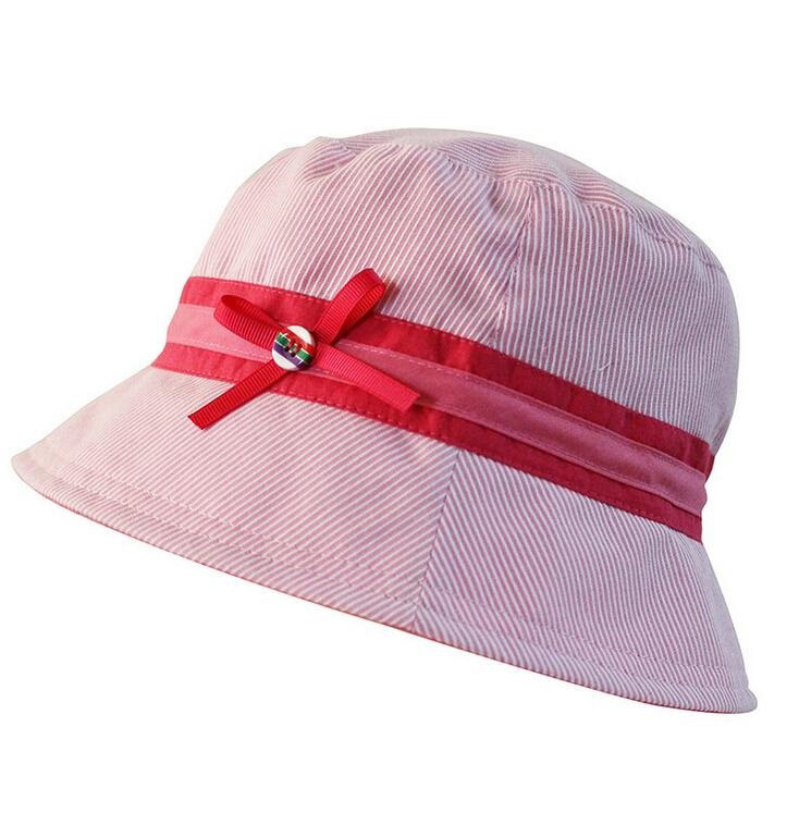 2017 Customize Hot Pink Children Kids Plain Design Large Bucket Hat Summer Cap